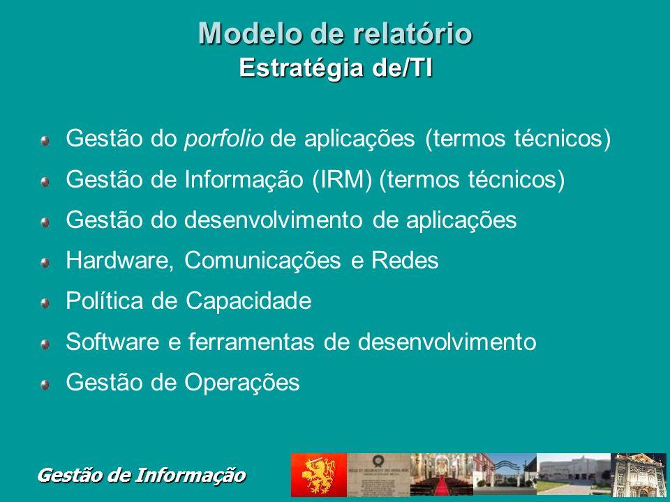 Modelo de relatório Estratégia de/TI