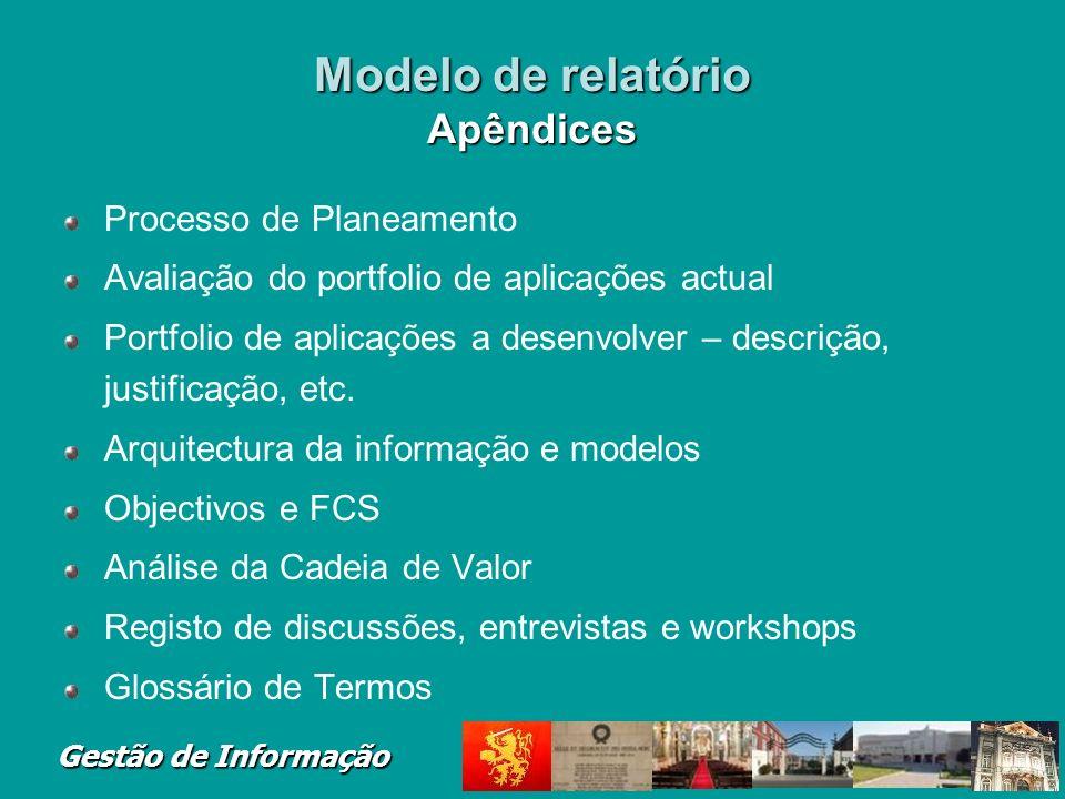 Modelo de relatório Apêndices
