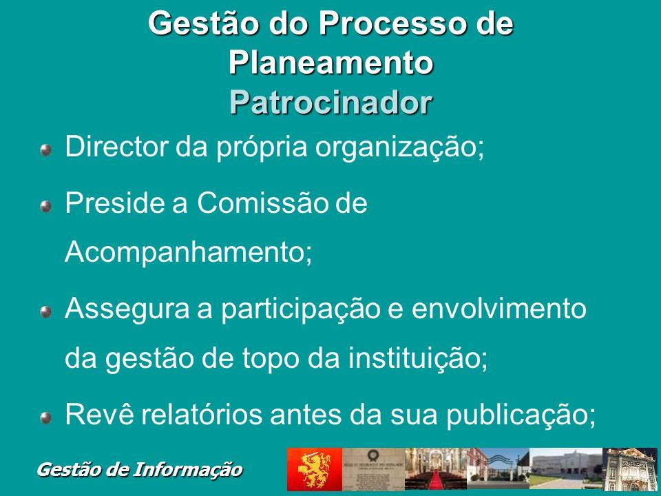 Gestão do Processo de Planeamento Patrocinador