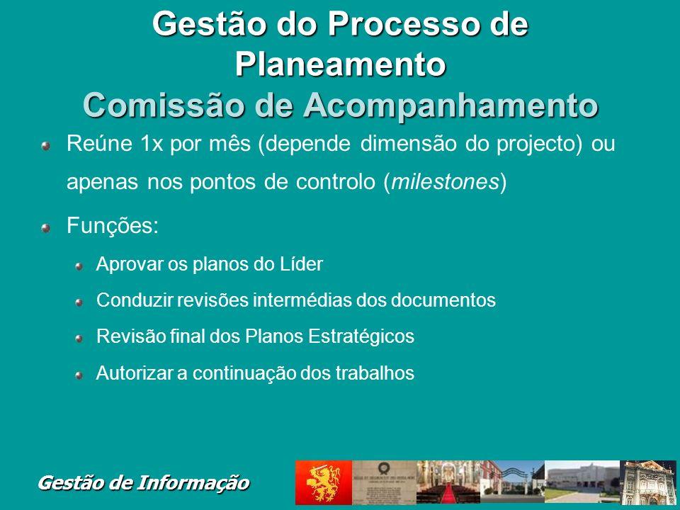 Gestão do Processo de Planeamento Comissão de Acompanhamento