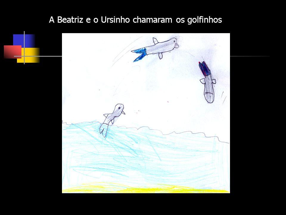 A Beatriz e o Ursinho chamaram os golfinhos