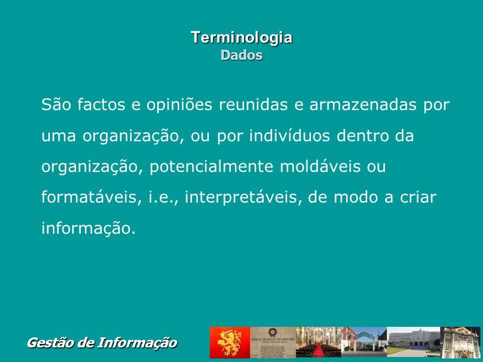 Terminologia Dados