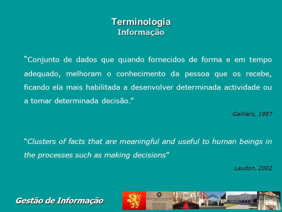 Terminologia Informação