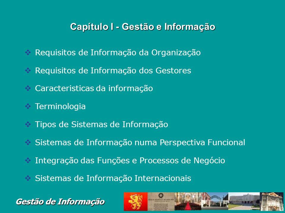 Capítulo I - Gestão e Informação