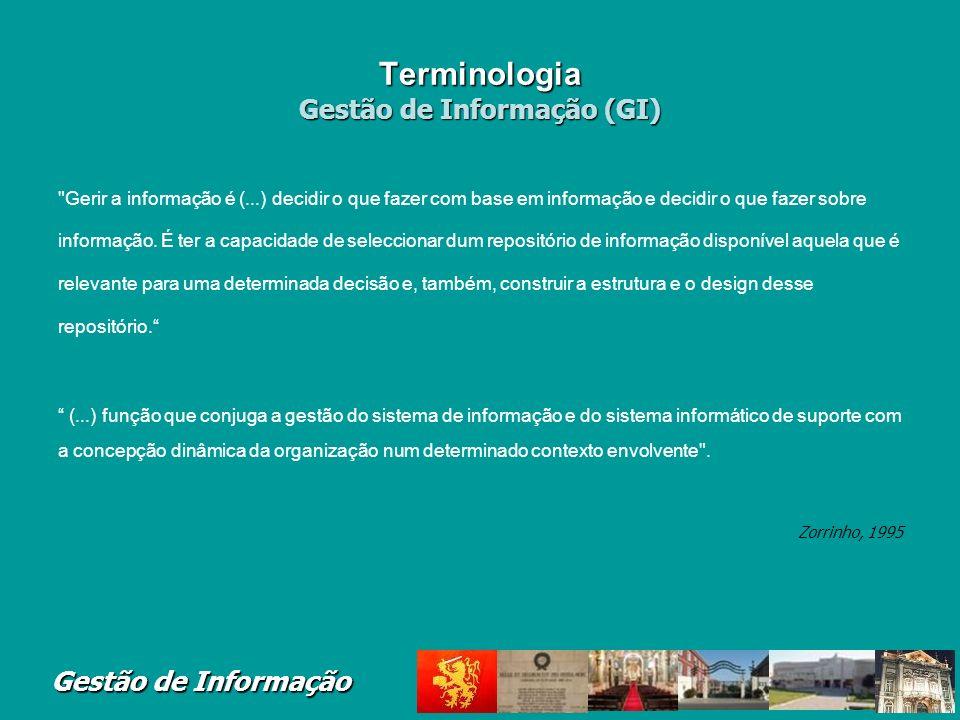 Terminologia Gestão de Informação (GI)