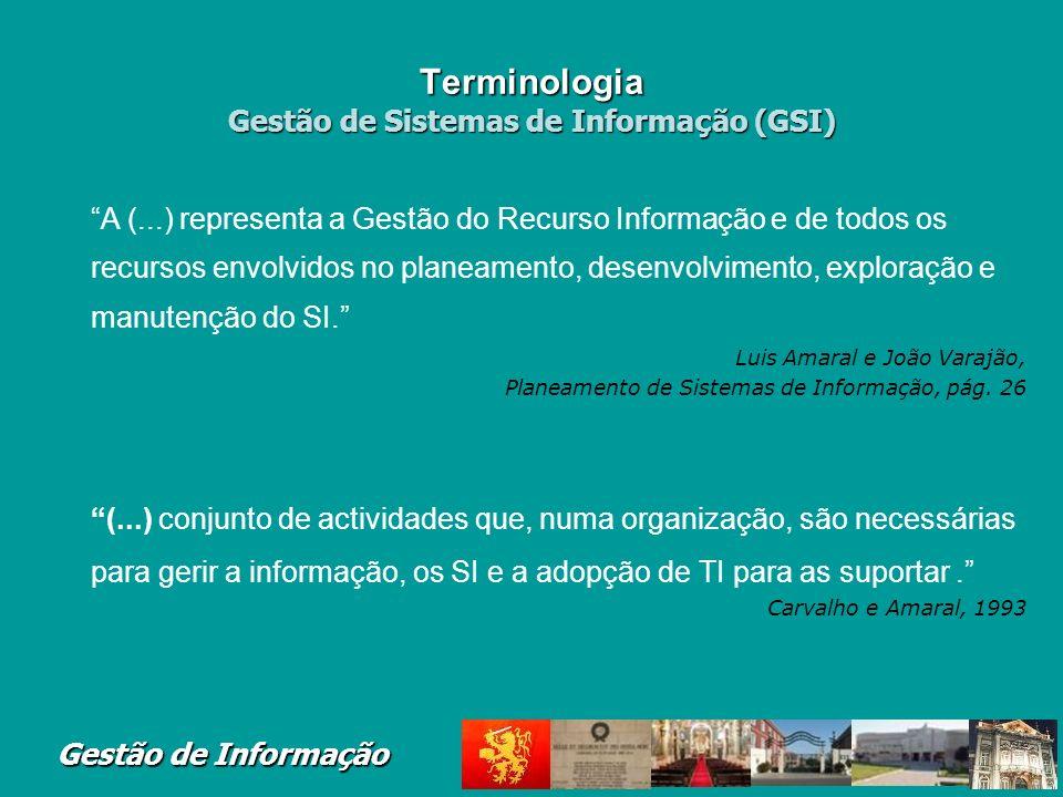 Terminologia Gestão de Sistemas de Informação (GSI)
