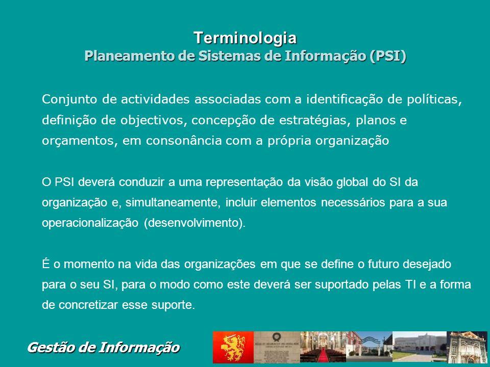 Terminologia Planeamento de Sistemas de Informação (PSI)