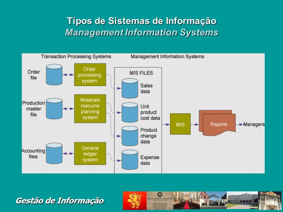 Tipos de Sistemas de Informação Management Information Systems