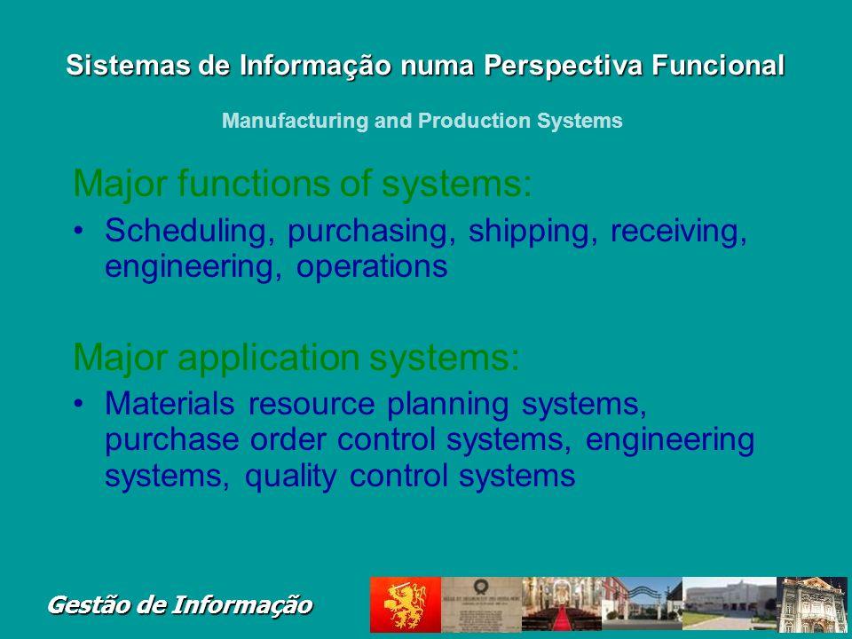 Sistemas de Informação numa Perspectiva Funcional