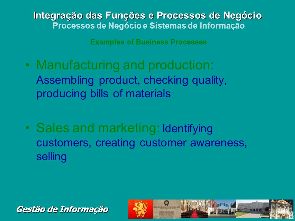 Examples of Business Processes