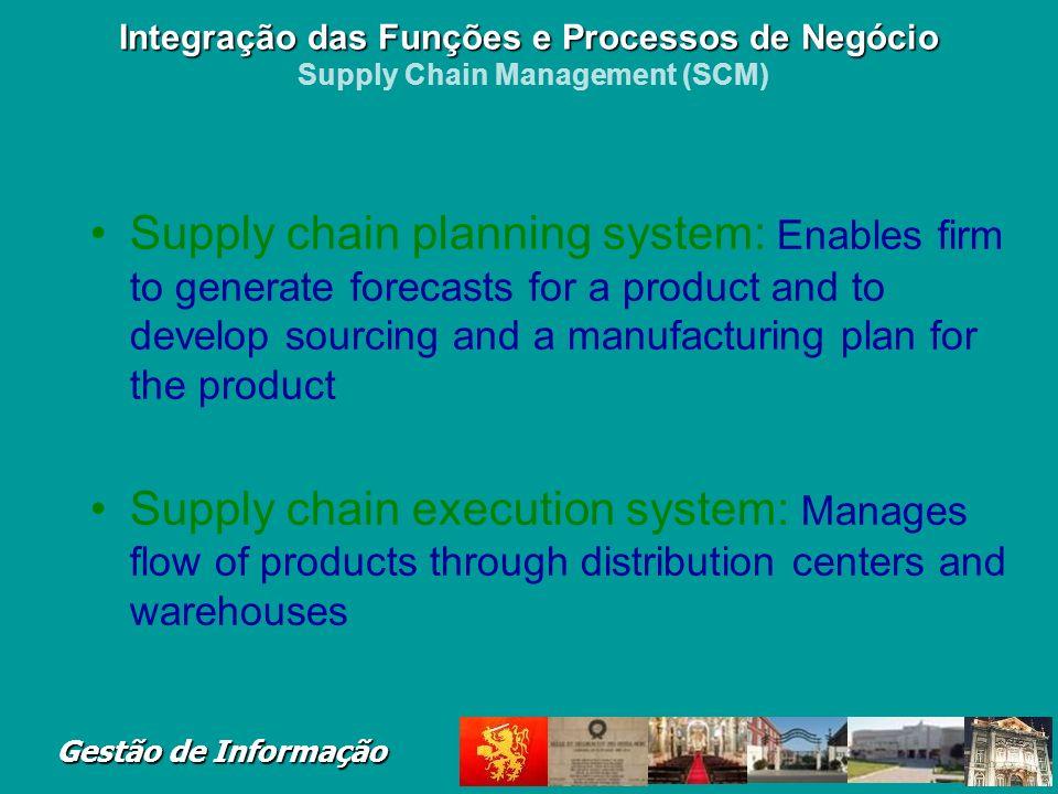 Integração das Funções e Processos de Negócio Supply Chain Management (SCM)
