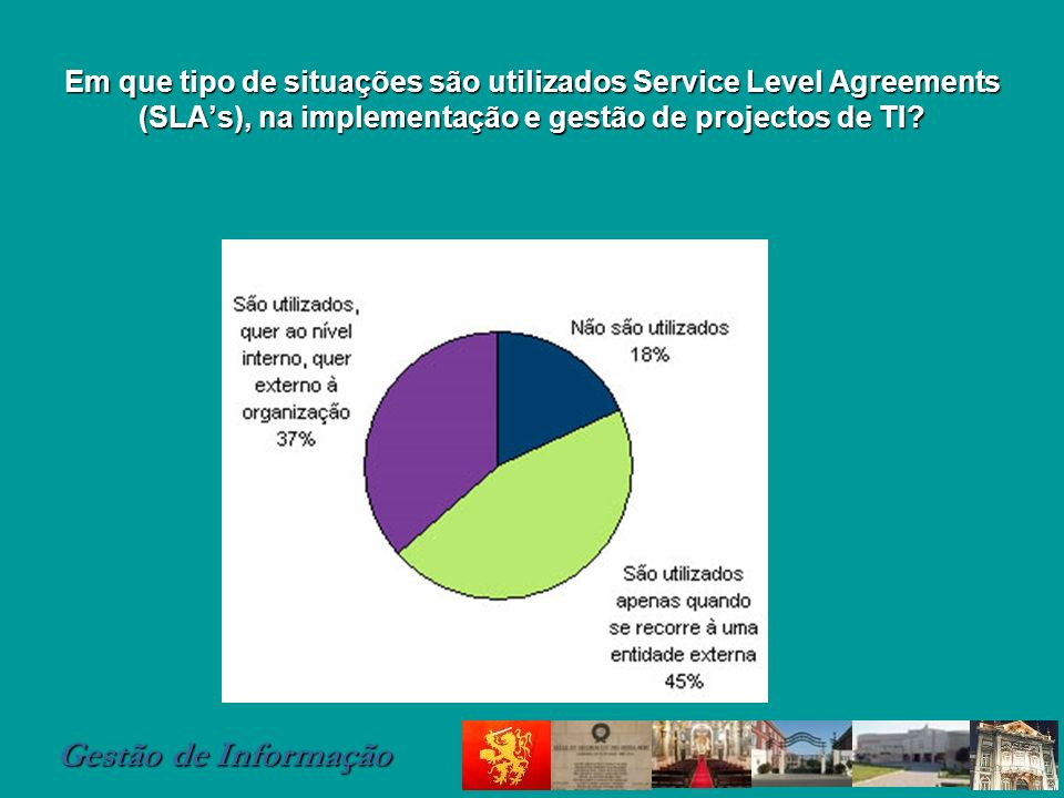 Em que tipo de situações são utilizados Service Level Agreements (SLA's), na implementação e gestão de projectos de TI