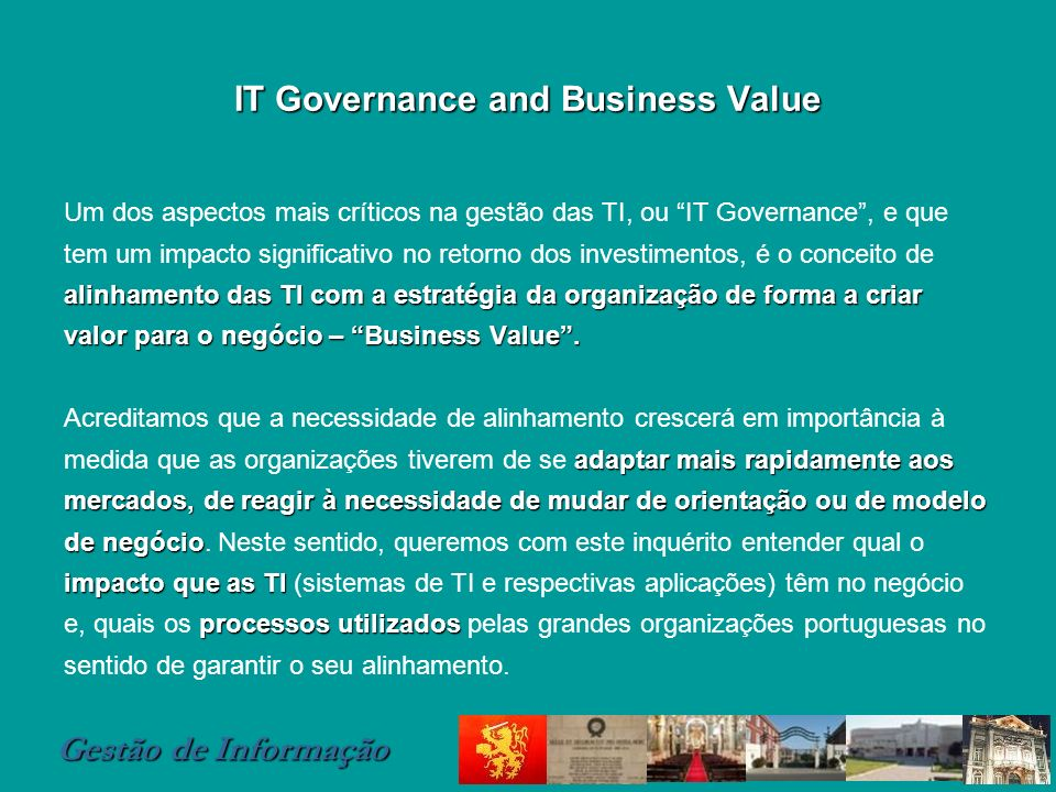 IT Governance and Business Value