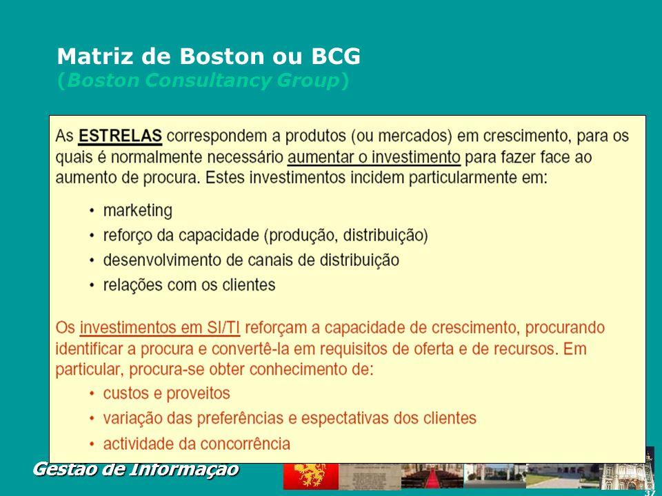 Matriz de Boston ou BCG (Boston Consultancy Group)