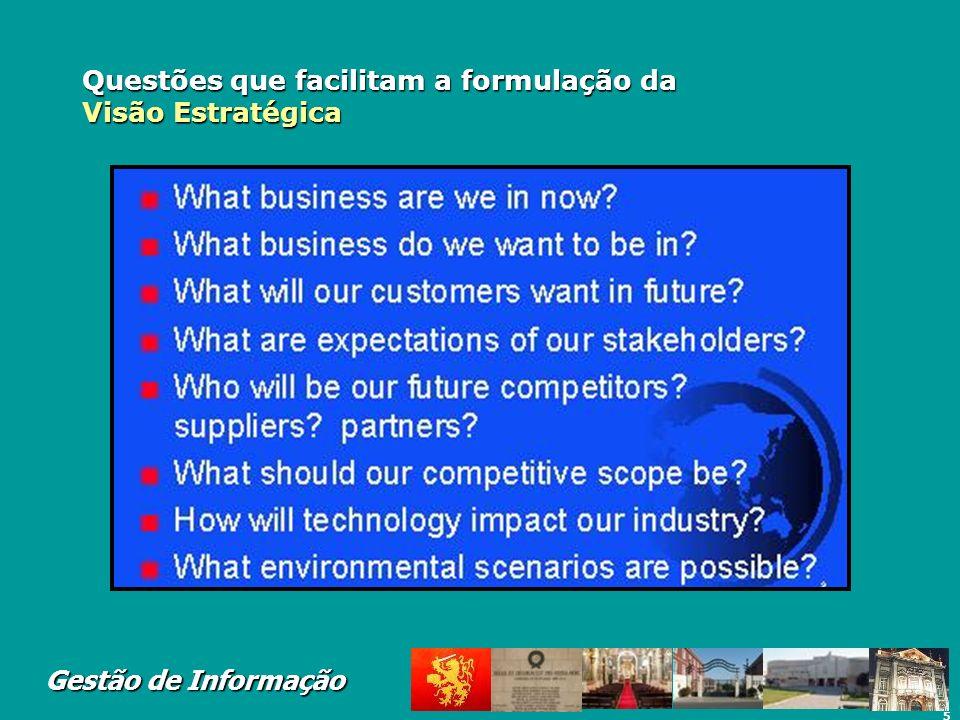 Questões que facilitam a formulação da Visão Estratégica