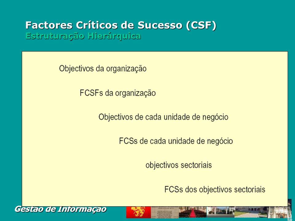 Factores Críticos de Sucesso (CSF) Estruturação Hierárquica
