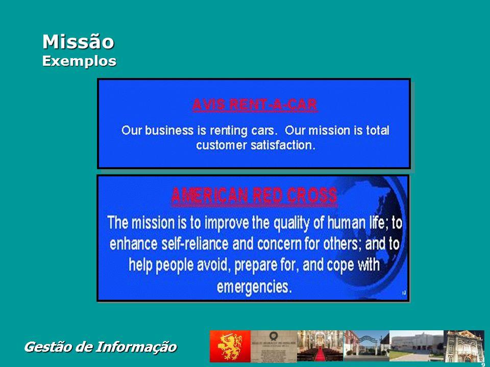 Missão Exemplos