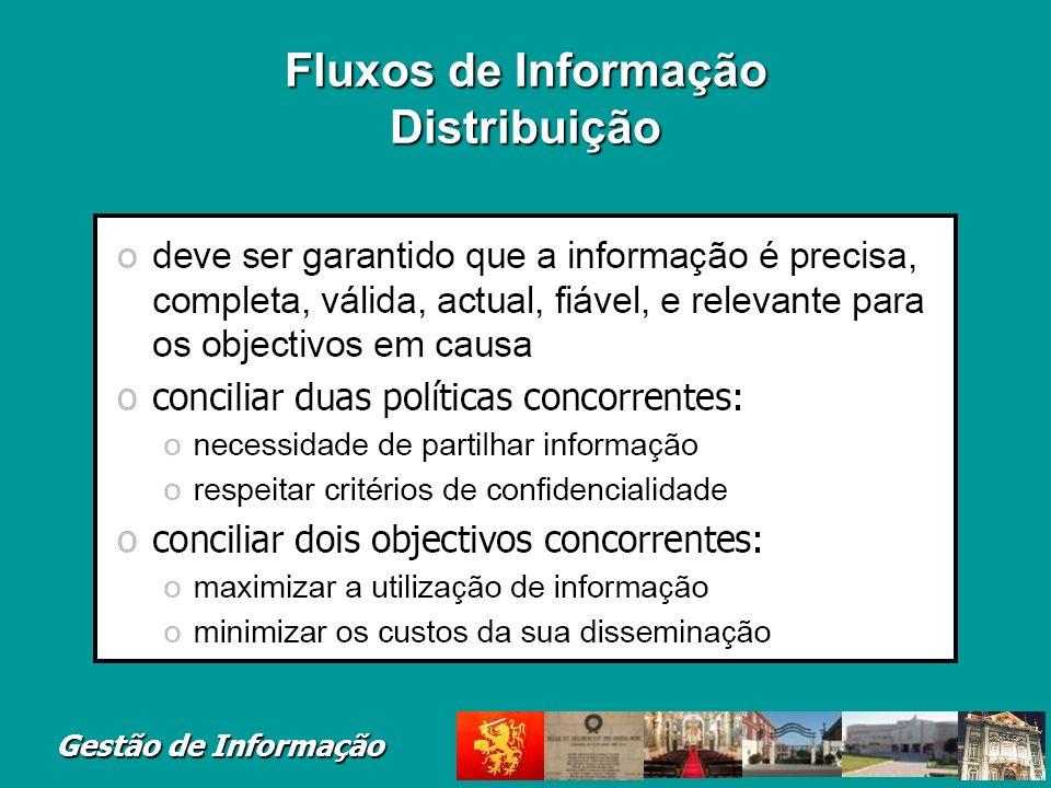 Fluxos de Informação Distribuição