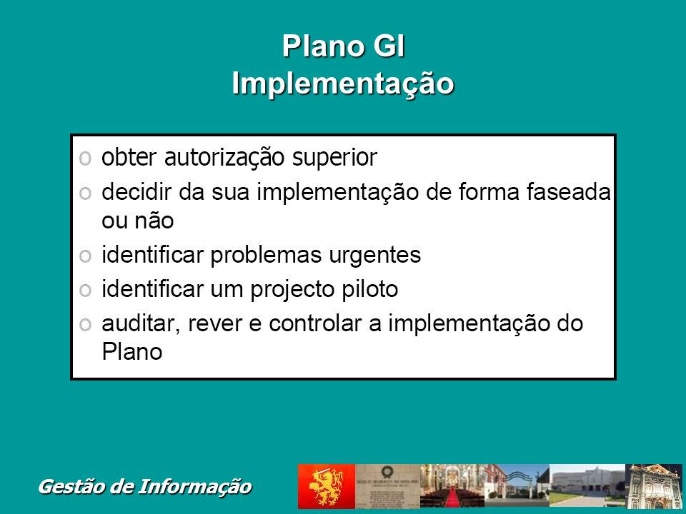 Plano GI Implementação