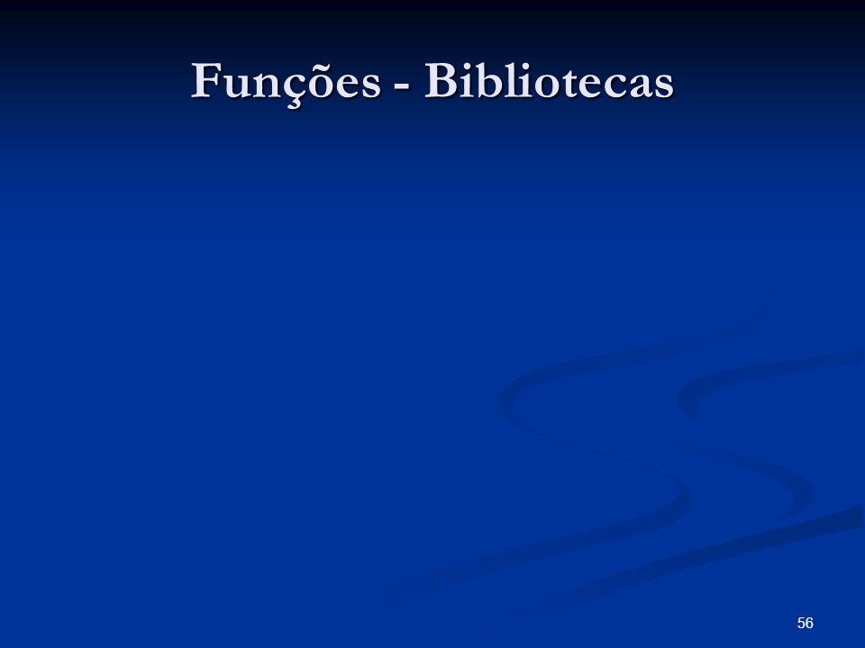 Funções - Bibliotecas