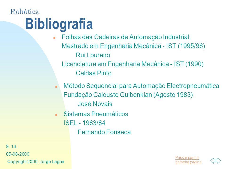 Bibliografia Folhas das Cadeiras de Automação Industrial: