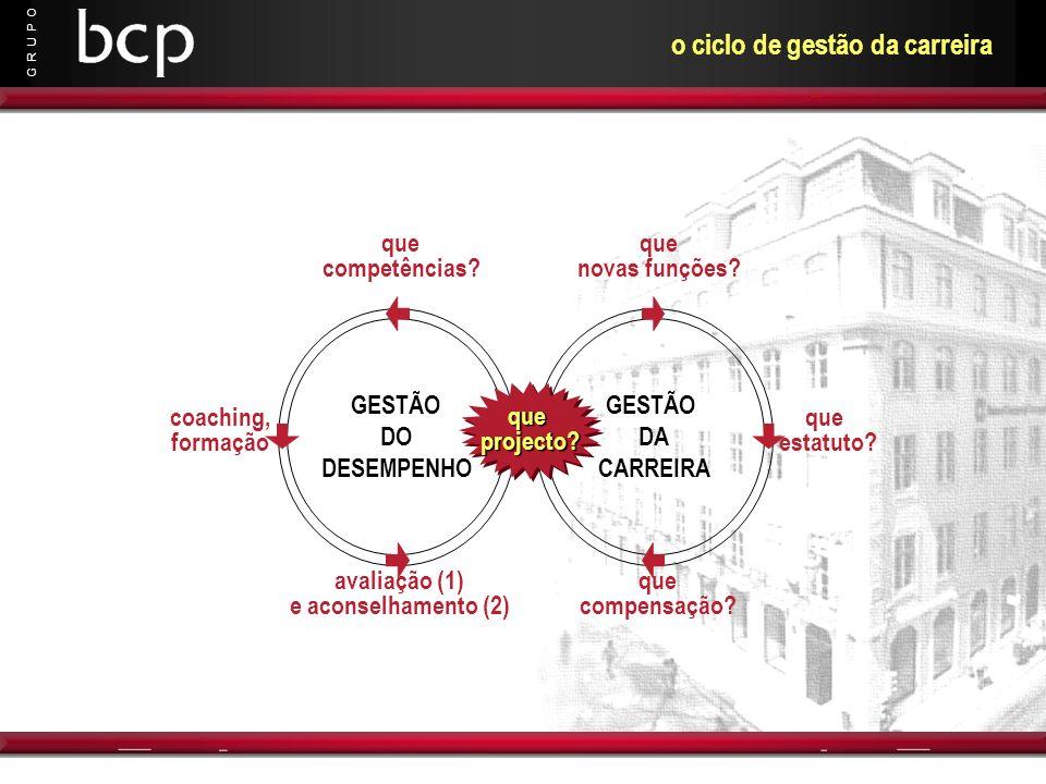 o ciclo de gestão da carreira
