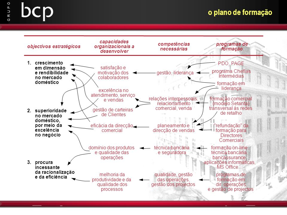 o plano de formação capacidades organizacionais a desenvolver