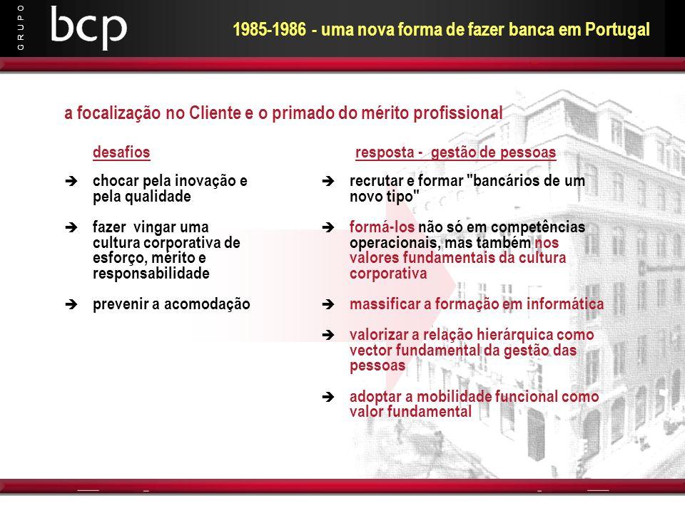 1985-1986 - uma nova forma de fazer banca em Portugal