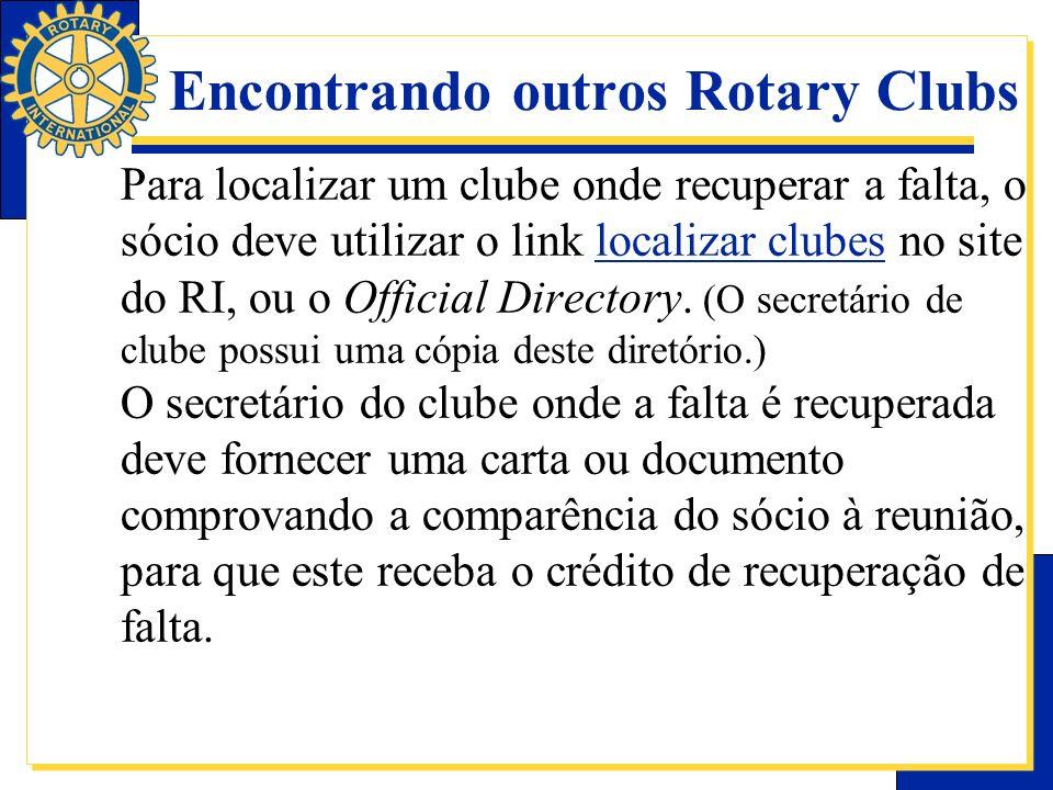 Encontrando outros Rotary Clubs