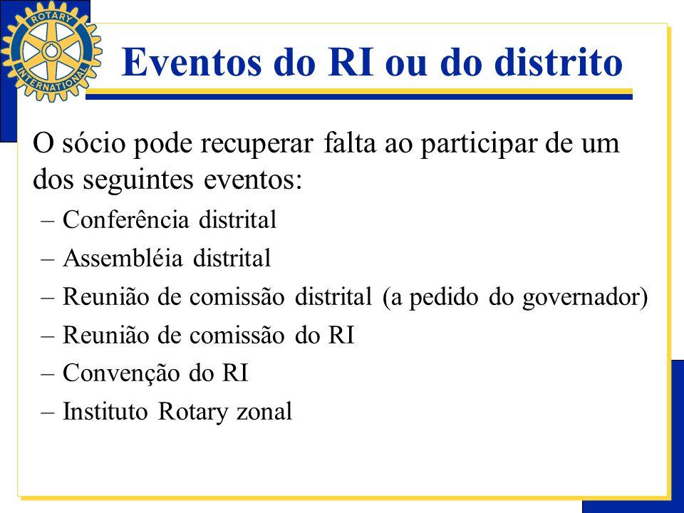 Eventos do RI ou do distrito