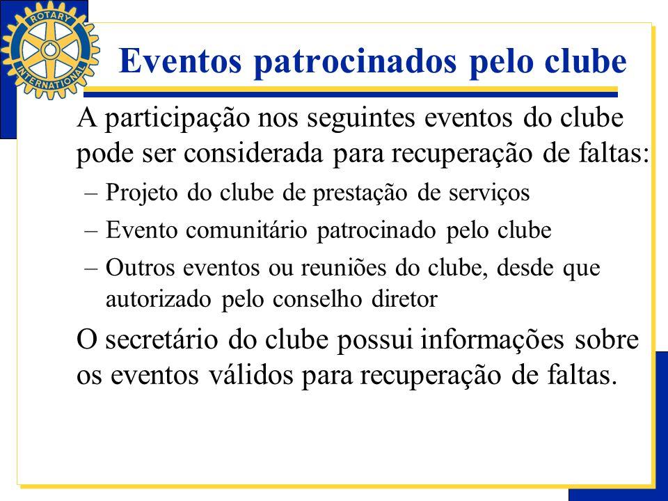 Eventos patrocinados pelo clube