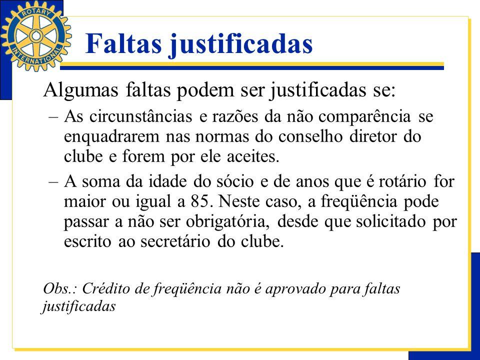 Faltas justificadas Algumas faltas podem ser justificadas se: