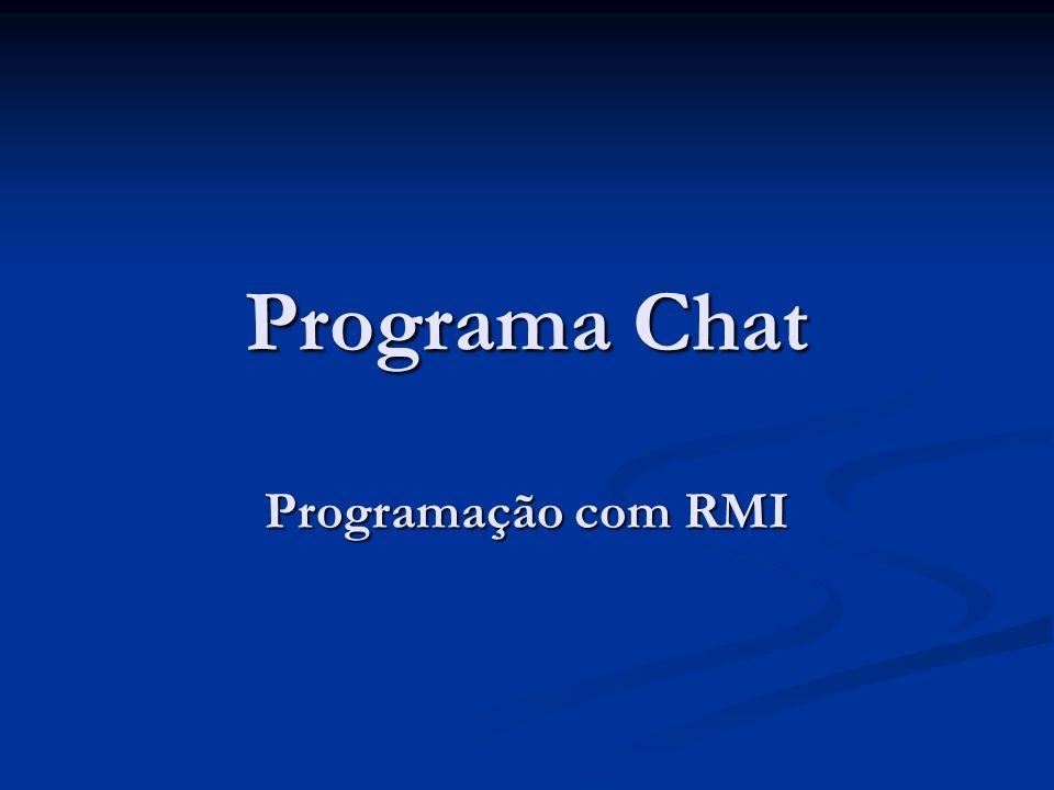 Programa Chat Programação com RMI