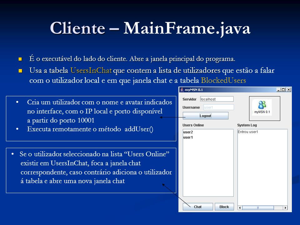 Cliente – MainFrame.java
