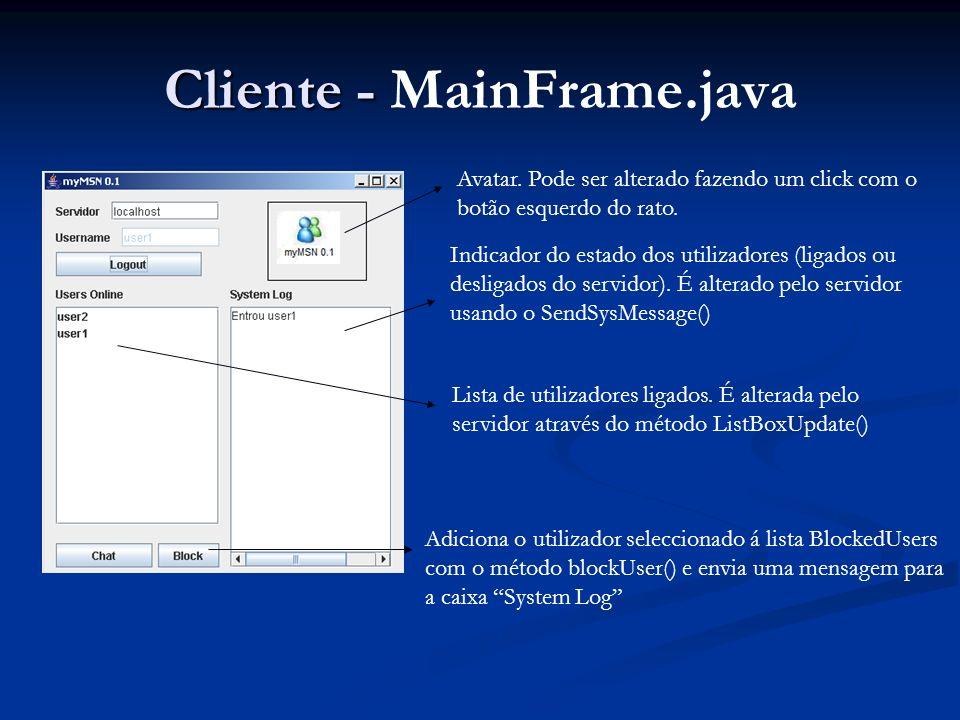 Cliente - MainFrame.java