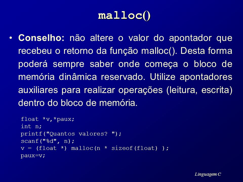 malloc()