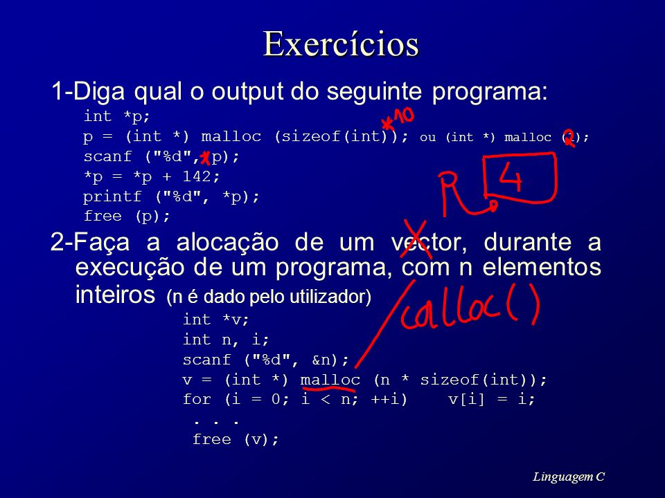 Exercícios 1-Diga qual o output do seguinte programa: