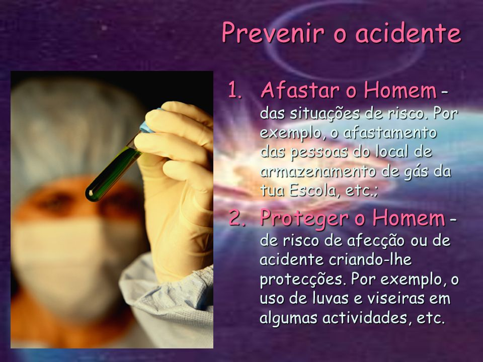Prevenir o acidente