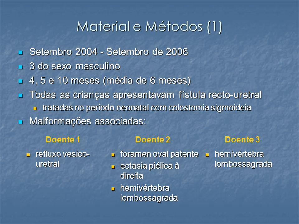Material e Métodos (1) Setembro 2004 - Setembro de 2006