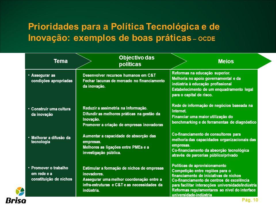 Prioridades para a Política Tecnológica e de