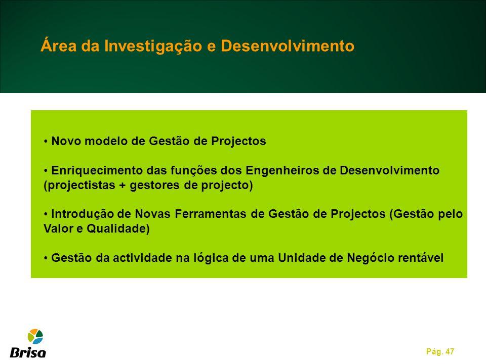 Área da Investigação e Desenvolvimento