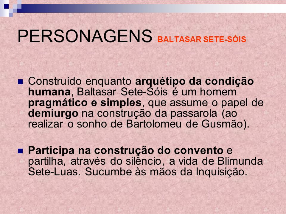 PERSONAGENS BALTASAR SETE-SÓIS