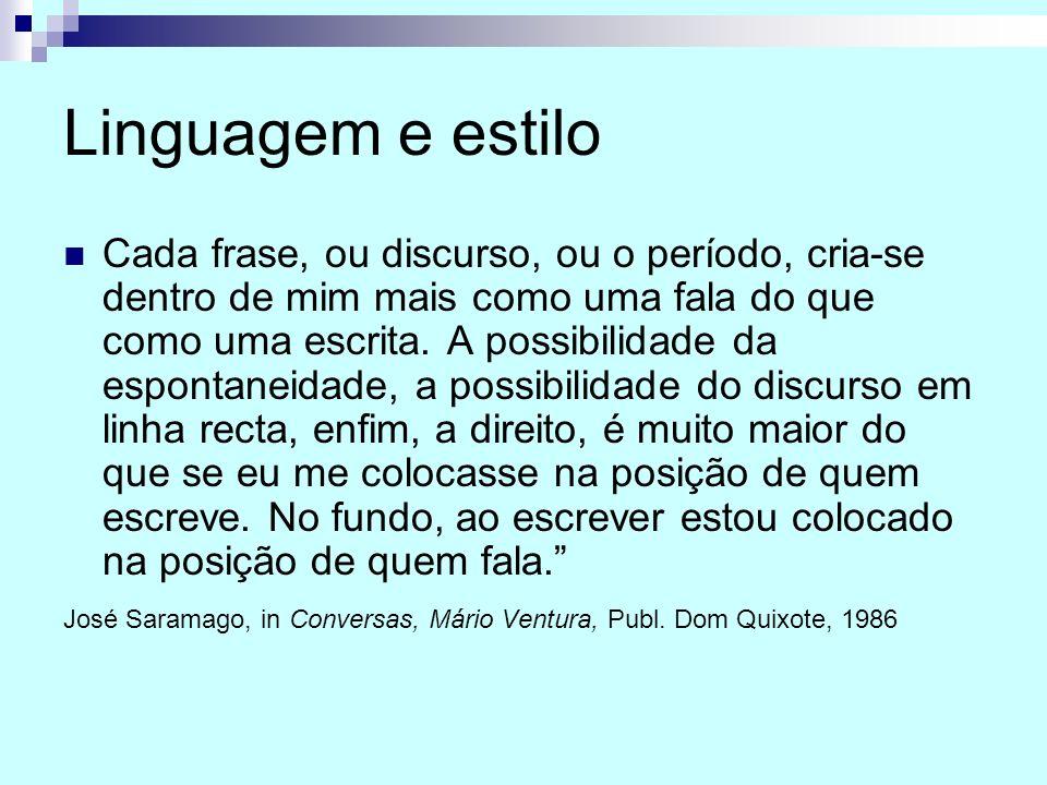 Linguagem e estilo
