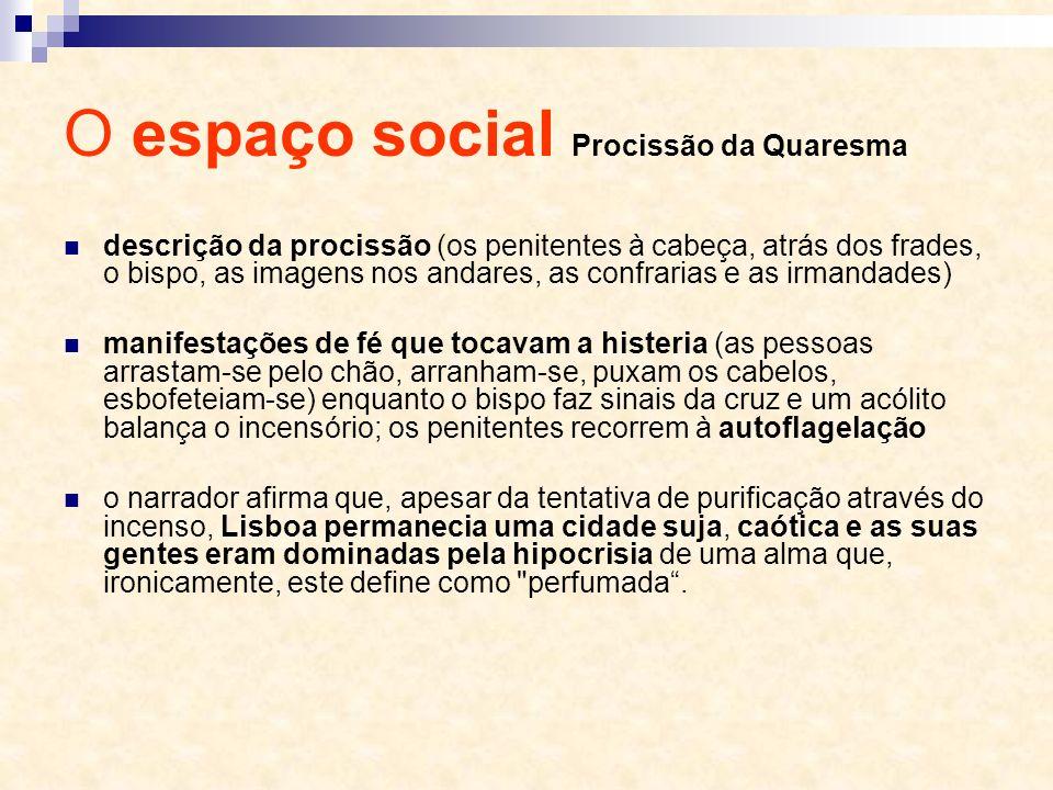 O espaço social Procissão da Quaresma