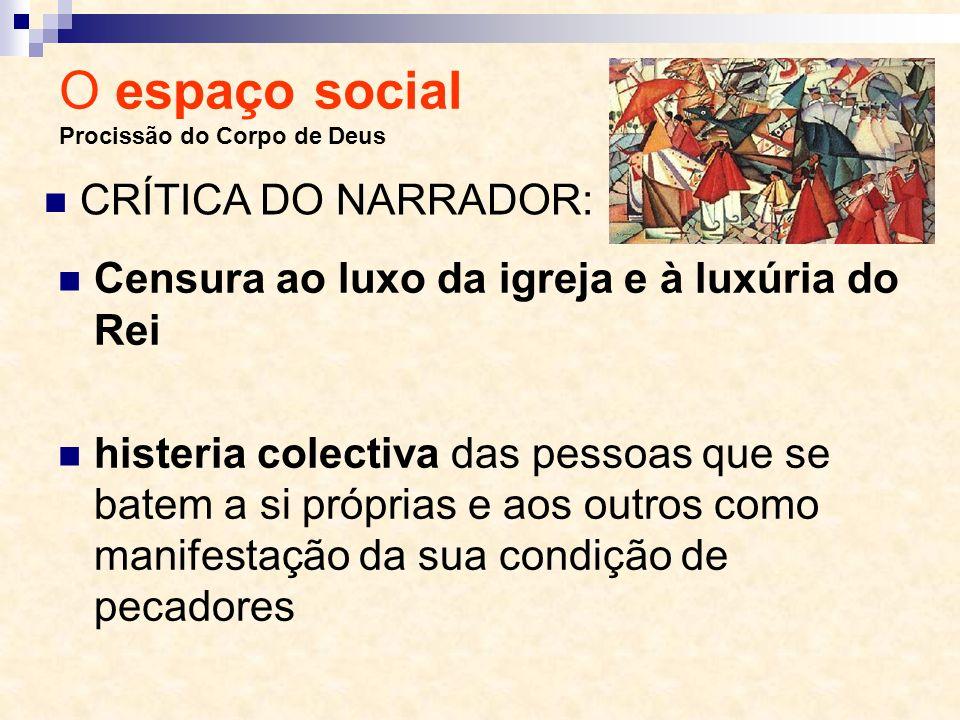 O espaço social Procissão do Corpo de Deus