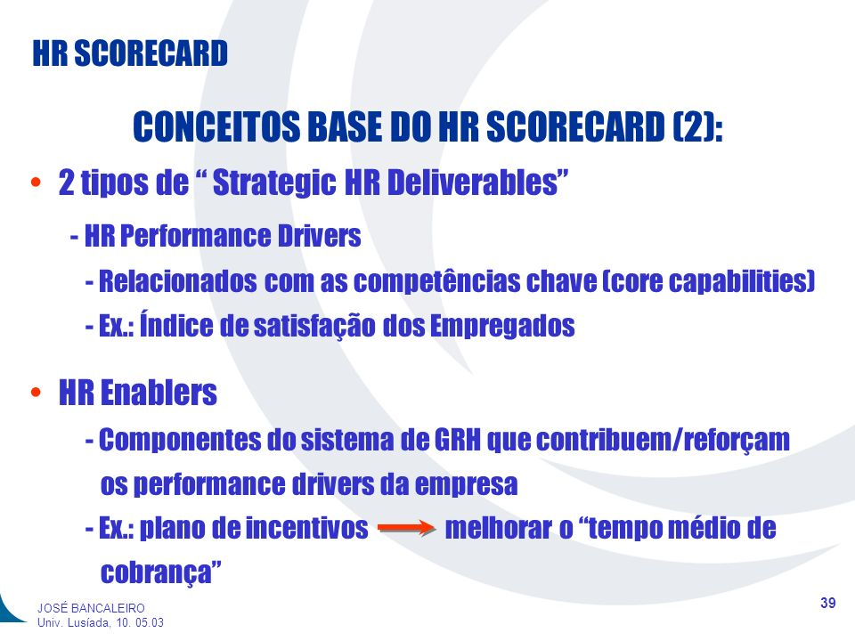 CONCEITOS BASE DO HR SCORECARD (2):