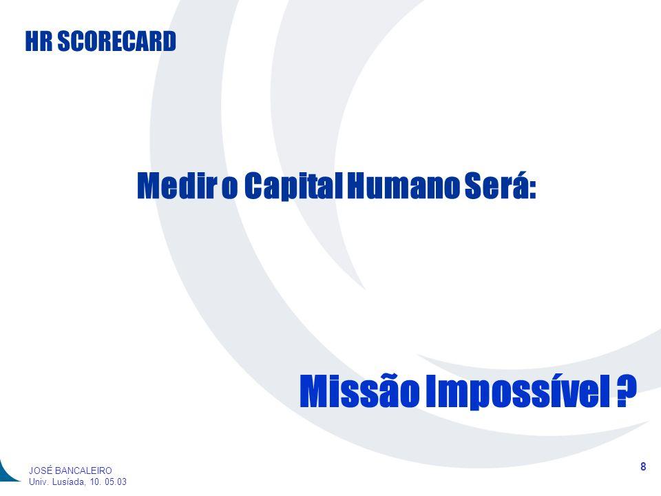 Medir o Capital Humano Será: