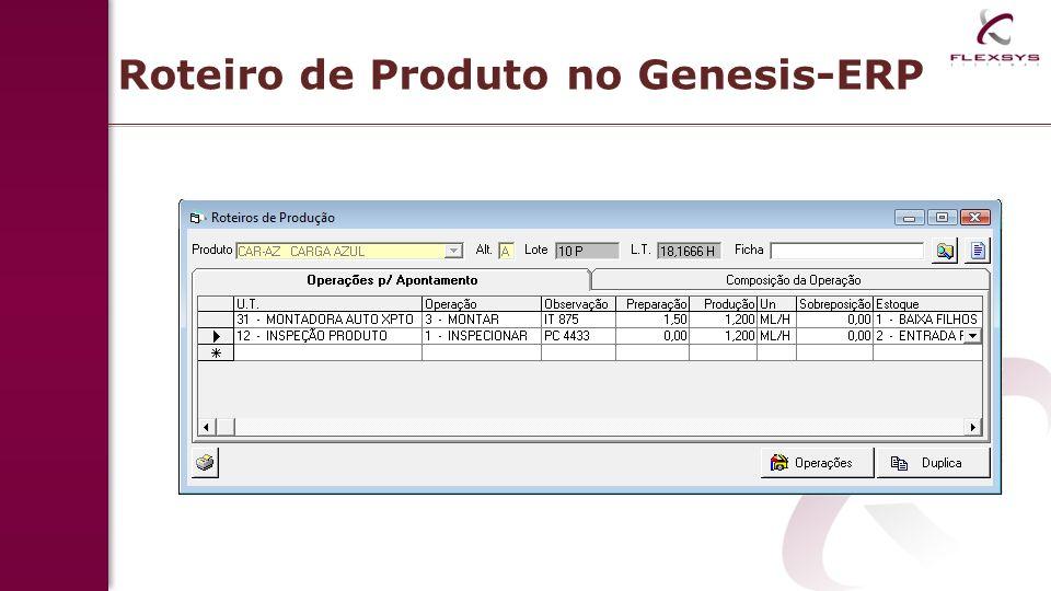 Roteiro de Produto no Genesis-ERP