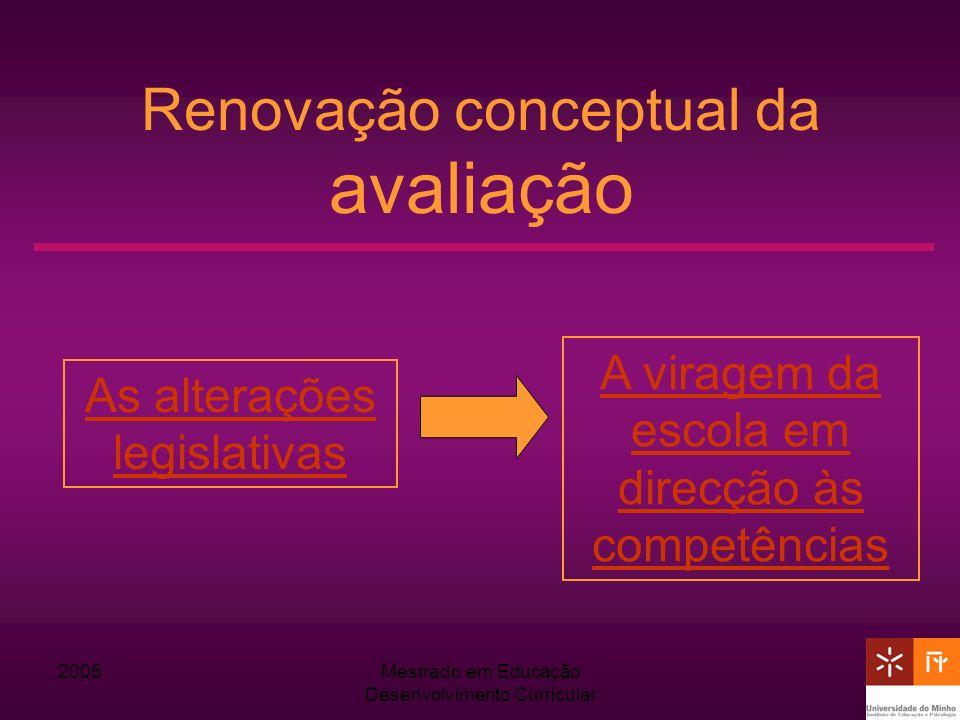Renovação conceptual da avaliação