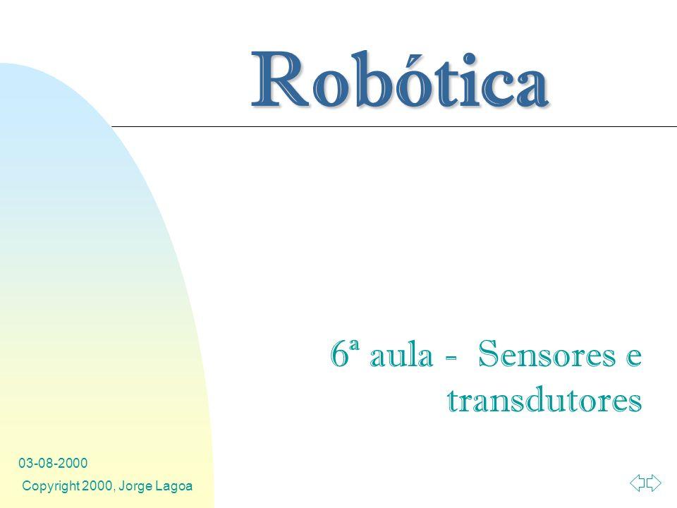 6ª aula - Sensores e transdutores